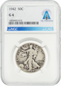 Explorers:Space Exploration, Coins: 1942 50¢ G4 NGC Walking Liberty Half Dollar Directly From The Armstrong Family Collection™, CAG Certified....