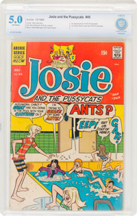 Josie and the Pussycats #45 (Archie, 1969) CBCS VG/FN 5.0 Off-white pages