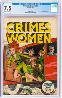 Crimes by Women #54 (Fox Features Syndicate, 1954) CGC VF- 7.5 Off-white to white pages