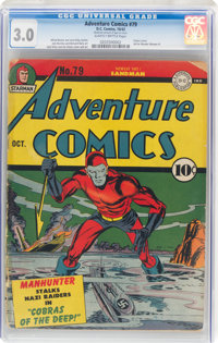 Adventure Comics #79 (DC, 1942) CGC GD/VG 3.0 Slightly brittle pages