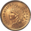 Indian Cents, 1869 1C MS66+ Red PCGS. CAC....