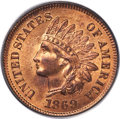 Indian Cents, 1869/69 1C Snow-3, FS-301, MS66 Red PCGS....