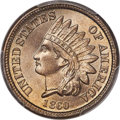 Indian Cents, 1860 1C MS67+ PCGS. CAC....