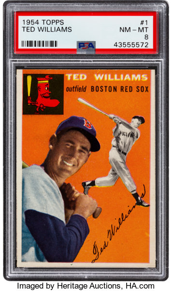 1954 Topps Ted Williams 1 Psa Nm Mt 8