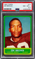 Football Cards:Singles (1960-1969), 1963 Topps Jim Brown #14 PSA NM-MT+ 8.5....