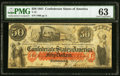 Confederate Notes:1861 Issues, T15 $50 1861 PF-1 Cr. 79 PMG Choice Uncirculated 63.. ...