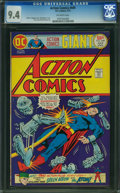 Bronze Age (1970-1979):Superhero, Action Comics #449 (DC, 1975) CGC NM 9.4 Off-white pages.