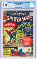 Silver Age (1956-1969):Superhero, The Amazing Spider-Man #9 (Marvel, 1964) CGC VF 8.0 White pages....
