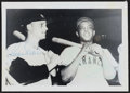 Autographs:Photos, Roger Maris & Willie Mays Dual-Signed Photograph....