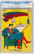 Golden Age (1938-1955):Superhero, Superman #41 (DC, 1946) CGC VF- 7.5 Off-white to white pages....