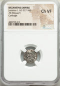 Ancients:Byzantine, Ancients: Justinian I the Great (AD 527-565). AR siliqua (14mm, 1.22 gm, 7h). NGC Choice VF....
