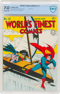World's Finest Comics #12 (DC, 1943) CBCS FN/VF 7.0 Exceptional White
