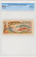 Golden Age (1938-1955):Superhero, Superman #1B The Supershow of Metropolis (DC, 1955) CBCS VF+ 8.5 Off-white to white pages....