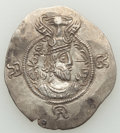 Ancients:Oriental, Ancients: TOKHARISTAN. Yabghus of Bactria. Ca. AD 6th-7th century. AR drachm (32mm, 4.13 gm, 2h). XF....