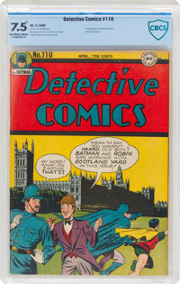 Detective Comics #110 (DC, 1946) CBCS VF- 7.5 Off-white to white pages