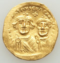 Ancients:Byzantine, Ancients: Heraclius (AD 610-641) and Heraclius Constantine. AV solidus (21mm, 4.37 gm, 7h). Choice VF....