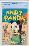 Golden Age (1938-1955):Funny Animal, Four Color #54 Andy Panda - File Copy (Dell, 1944) CBCS VF- 7.5 Off-white pages....