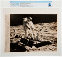 "AP ORIGINAL WIREPHOTOS: ""Experiment on the Moon"" July 31, 1969, Directly From The Armstrong Family Collection™..."