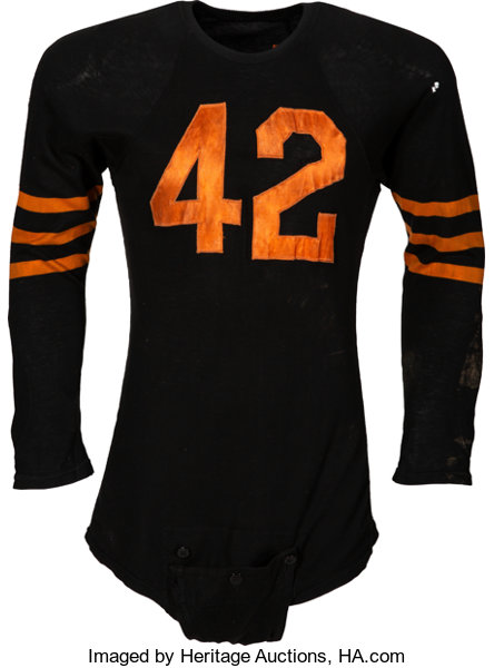 huge discount 51f47 f33fb 1948-49 Sid Luckman Game Worn Chicago Bears Jersey, MEARS ...