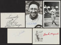 Autographs:Post Cards, Sports Greats Signed Post & Index Card Lot of 5....