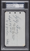 Autographs:Index Cards, 1934 Lefty Gomez Signed & Inscribed Album Page, PSA/DNA NM-MT 8....