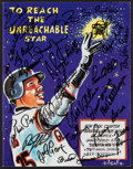 Baseball Collectibles:Programs, 2002 NYBBWA Multi-Signed Program from the Bobby Valentine Collection (25+ Signatures)....