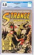 Golden Age (1938-1955):Science Fiction, Strange Worlds #3 (Avon, 1951) CGC VG/FN 5.0 Off-white pages....