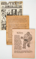 Memorabilia:Fanzines, Rocket's Blast Comicollector Damaged and/or Incomplete Fanzine Group of 3 (1965-67) Condition: Incomplete.... (Total: 3 Items)
