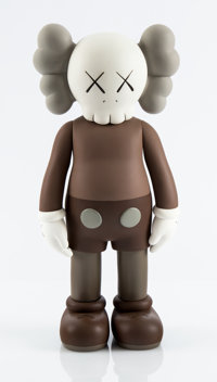 KAWS (American, b. 1974) Five Years Later Companion (Brown), 2004 Painted cast vinyl 14-3/4 x 6-7
