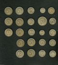 French Colonies: , French Colonies: French Colonial Essai Set, an original set of 23 colonial copper-nickel patterns, 1948-1949, all FDC and housed in the origi... (Total: 23 coins Item)