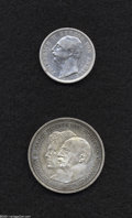 German States:Anhalt-Dessau, German States: Anhalt-Dessau. Friedrich II 2 Mark 1904-A, KM27, AVF, small attempted hole on the reverse and lightly cleaned, very scarce t... (Total: 2 pieces Item)