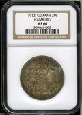 German States:Hamburg, German States: Hamburg. Free City 3 Mark 1912-J, KM296, MS66 NGC, deeply toned and very scarce grade for this series....