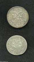 German States:Lubeck, German States: Lubeck. Friedrich August Taler of 48 Schilling 1752,KM168, choice toned XF, nice details, and KM162 32 Schilling 1748,F-VF... (Total: 2 coins Item)