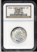 German States:Saxony, German States: Saxony. Albert 2 Mark 1902-E, KM1245, MS65 NGC, a choice coin with very attractive toning....