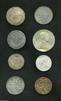 German Lots: , German Lots: Better German States Silver, Anhalt-Bernberg KM72 2/3 Taler (2): 1806HS toned AXF and 1809HS, F-VF with small mount trace at... (Total: 8 coins Item)