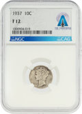 Explorers:Space Exploration, Coins: 1937 10¢ F12 NGC Mercury Dime Directly From The Armstrong Family Collection™, CAG Certified. ...