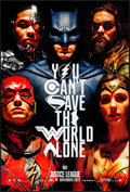 """Movie Posters:Action, Justice League (Warner Bros., 2017). Rolled, Very Fine/Near Mint. One Sheet (27"""" X 40"""") DS Advance. Action.. ..."""