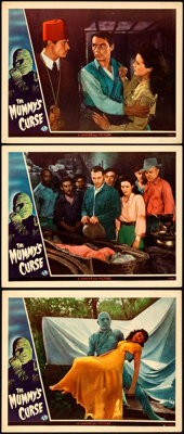 "The Mummy's Curse (Universal, 1944). Very Fine-. Lobby Cards (3) (11"" X 14""). ... (Total: 3 Items)"