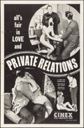 "Movie Posters:Sexploitation, Private Relations (Cinex International, 1968). Folded, Fine/VeryFine. One Sheet (27"" X 41""). Sexploitation.. ..."