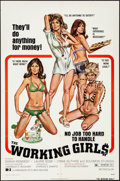 """Movie Posters:Sexploitation, The Working Girls & Other Lot (Dimension, 1974). Folded, Very Fine-. One Sheets (3) (27"""" X 41"""") Robert Tanenbaum Artwork. Se... (Total: 3 Items)"""