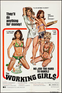 """The Working Girls & Other Lot (Dimension, 1974). Folded, Very Fine-. One Sheets (3) (27"""" X 41"""") Robert..."""