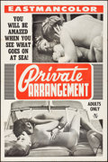 """Movie Posters:Adult, Private Arrangement (Mitam Productions, 1970). Folded, Fine/Very Fine. One Sheet (28"""" X 42""""). Adult.. ..."""