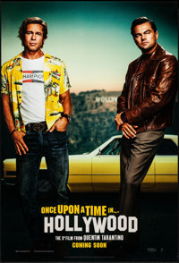 """Once Upon a Time in Hollywood (Columbia, 2019). Rolled, Near Mint. One Sheet (27"""" X 40"""") DS Advance. Drama..."""