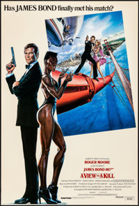 """A View to a Kill (United Artists, 1985). Rolled, Very Fine+. British One Sheet (27"""" X 40"""") SS. Dan Gouzee Artw..."""