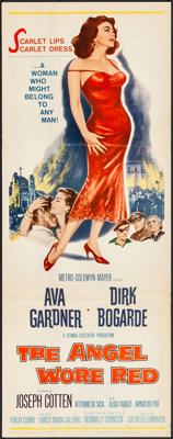 "The Angel Wore Red (MGM, 1960). Folded, Very Fine-. Insert (14"" X 36""). War"