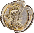 Ancients:Roman Imperial, Ancients: Anonymous Issues. Constantinople Commemorative (ca. AD 430). AR one-scripulum (15mm, 1.01 gm, 11h). NGC (photo-certificate) Ch...