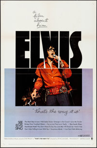 "That's the Way It Is (MGM, 1971). Folded, Very Fine. One Sheet (27"" X 41""). Elvis Presley"