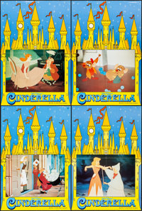 "Cinderella (The Walt Disney Company, R-1970s). Folded, Very Fine. British Double Crowns (4) (20"" X 30""). Anima..."