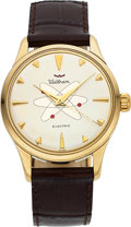 Timepieces:Wristwatch, Waltham, Electric, Gold Plate and Stainless Steel, Circa 1...