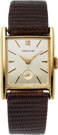 Timepieces:Wristwatch, Hamilton, Dawson, 10K Yellow Goldfilled and Stainless Steel, Manual Wind, Circa 1959. ...